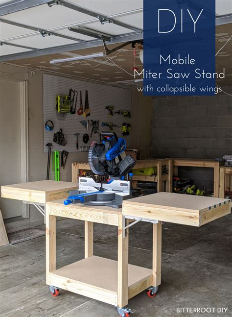 Mobile Wood Storage And Miter Saw Cart Plans